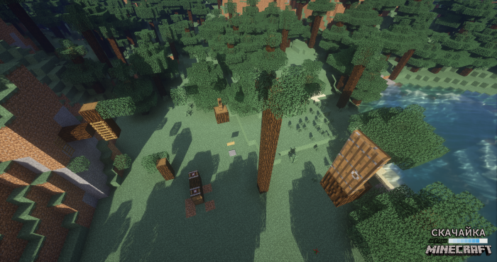 Карта LOST WORLD PARKOUR для Minecraft 1.10.2