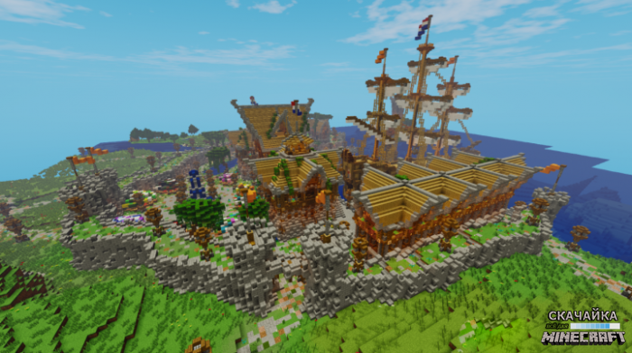Карта Harbor Survival Spawn для Minecraft 1.11/1.10.2/1.10