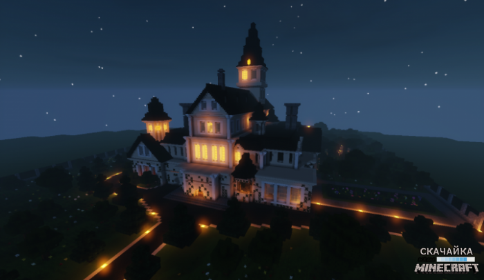 Карта Cluedo Tudor Mansion для Minecraft 1.11.2/1.11